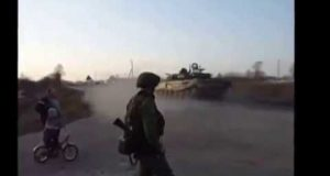 Startling New Videos Show Russian Tanks Just 15km From Ukraine Border